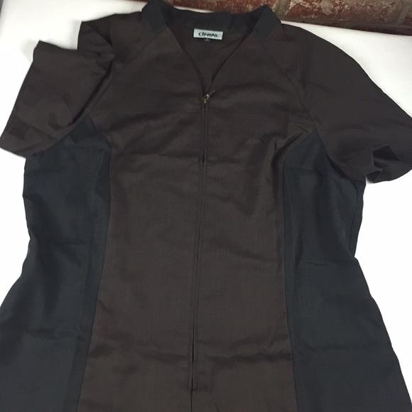 Cintas brown and black zipper Smock Work Uniform
